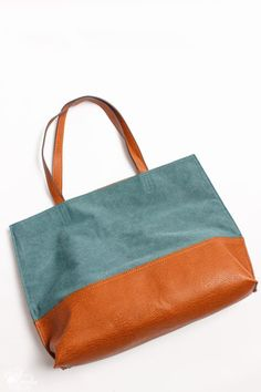 I really love this Street Level Huron Mixed-Material Reversible Tote from Stitch Fix!