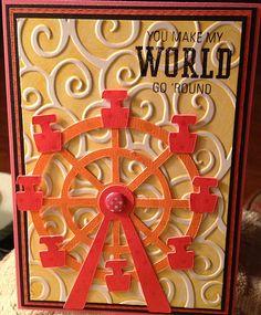 Fun kids card - ferris wheel is from the CTMH Artiste Cricut Cartridge