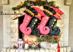 Christmas Stockings, Wreaths, Halloween, Home Decor, Needlepoint Christmas Stockings, Decoration Home, Door Wreaths, Room Decor, Christmas Leggings