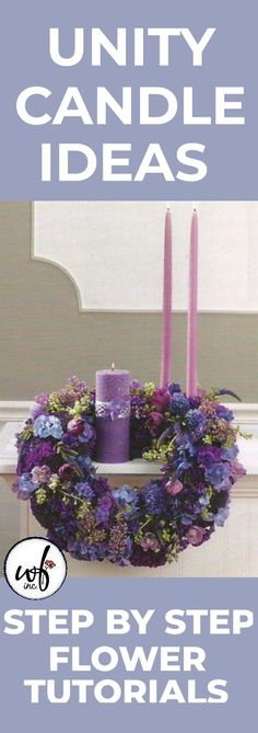 Easy designs for church pews, unity candles, altar sprays, candelabra and urns. Church Wedding Flowers, Church Wedding Decorations, Altar Decorations, Flower Decorations, Centerpieces, Unity Candle, Candles, Pew Markers, Florist Supplies