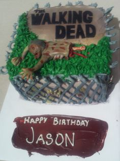 The Walking Dead cake!