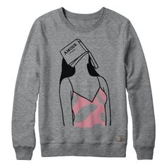 PLEASE NOTE: ORDERS CONTAINING HISTOIRE D'AMOUR CREWNECK WILL SHIP SLIGHTLY DELAYED. THEY WILL SHIP ON OR BEFORE SEPTEMBER 30TH. 2 colour print on heather grey