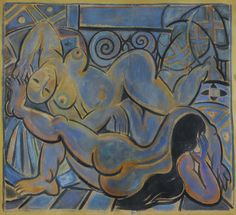 https://flic.kr/p/PLPi9Y | Wifredo Lam - Double Female Nude [1936] | Awarded a study grant upon his arrival in Spain in 1923, Lam threw himself into studying the old great masters of the Prado museum with his mentor, the academic painter and director of the museum, Fernando Alvrez de Sotomayor. At the same time, he discovered European modernist movements. Quickly integrated into the Spanish avant-garde circles, he studied the work of Cézanne, Matisse, Braque, Juan Gris and Picasso. The…