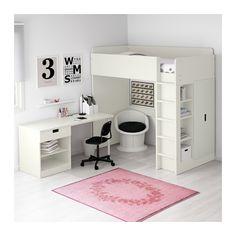 STUVA Comb cama alta c/1 gav/2 port - branco, 207x99x193 cm - IKEA