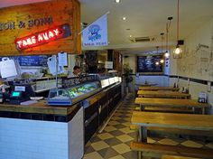 sutton and sons fish and chips, interiors