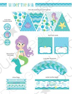 Mermaid Birthday Party {Printables} | Party Printables by Amy ...
