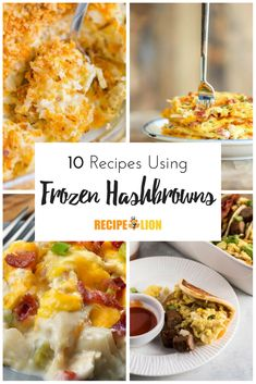 10 recipes using frozen hash browns: these frozen hash brown dinners are incredibly easy. Frozen Hashbrown Recipes, Frozen Hashbrowns, Easy Holiday Recipes, Easy Dinner Recipes, Easy Recipes, Dinner Ideas, Easy Casserole Recipes, Potato Recipes, Cheap Healthy Lunch