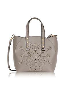 FURLA WOMEN'S 856014 GREY LEATHER SHOULDER BAG. #BestPrice $4.99!