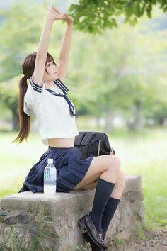 #女子高生 #jk #制服 #セーラー服 #腹チラ #school_girl #school_uniform #sailor_suit