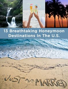 13 Breathtaking Honeymoon Destinations In The U.S I want to visit all of these places 13 Breathtaking Honeymoon Destinations In The U. Erin Aukward ekaukw Maybe One Day 13 Breathtaking Honeymoon Destinations In The U.S I want to visit all of thes Honeymoon On A Budget, Romantic Honeymoon Destinations, Honeymoon Cruise, Best Honeymoon, Honeymoon Places, Vacation Destinations, Wedding Destinations, Us Honeymoon Ideas, Romantic Travel