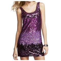 Ombr Sequin Dress