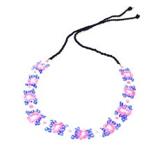 Blue,pink & white beaded anklet-£2.50 #prettytwisted #anklet #jewellery http://prettytwistedonline.co.uk/product/pink-blue-white-beaded-anklet/