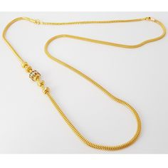 916 Gold Multi Stone Side Mopu Tali Chain, Luxury, Accessories on Carousell Gold Jewelry Simple, Gold Wedding Jewelry, Bridal Jewelry, Gold Jewellery, Chain Jewelry, Gold Mangalsutra Designs, Gold Earrings Designs, Necklace Designs, Gold Chain With Pendant