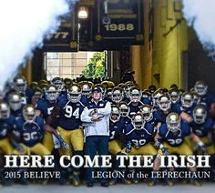 Here we go!!! Football Love, Notre Dame Football, Football Baby, College Football, Irish Fans, Go Irish, Notre Dame Campus, Notre Dame Irish, Fighting Irish