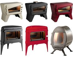 Cool Wood Stoves - wood burning cast iron stoves by Invicta (outside wood stove awesome) Stove Fireplace, Fireplace Design, Fireplace Ideas, Outside Wood Stove, Foyers, Stove Heater, Cast Iron Stove, Vintage Stoves, Freestanding Fireplace