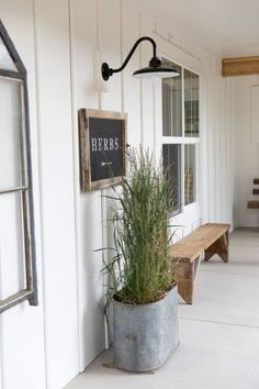 Yellow Prairie Interiors »Keeping things simple on the back porch of our 1890 farmhouse. A black gooseneck light from Barn Light Electric Company is just the perfect choice!