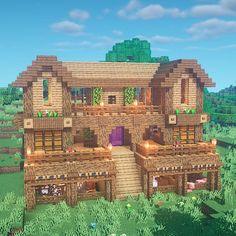 Minecraft Stables, Casa Medieval Minecraft, Cute Minecraft Houses, Minecraft Mansion, Minecraft Houses Survival, Minecraft Plans, Amazing Minecraft, Minecraft City, Minecraft House Designs