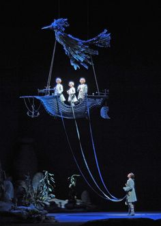 Charles Castronovo and Three Boys Magic Flute c Dan Rest Lyric Opera Chicago Stage Set Design, Set Design Theatre, Ballet Vintage, Bühnen Design, Photowall Ideas, Lyric Opera, Instalation Art, The Magic Flute, Theatre Stage