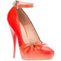 VIKTOR & ROLF flower high heel pump ($960) ❤ liked on Polyvore