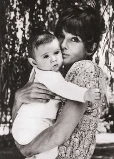 Audrey and her son Luca photographed for Vogue by Henry Clarke in 1971.