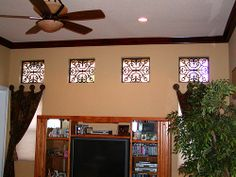 Faux Wrought Iron square window treatment