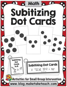 Subitizing is the ability to recognize a small group of objects without counting.