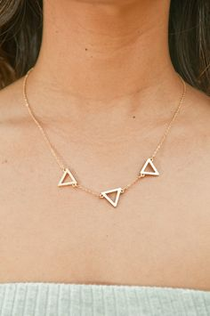 Triple Tria Dainty Necklace