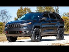 Give your KL Jeep Cherokee increased ground clearance and an aggressive look worthy of the Jeep name with Rough Country's Suspension Lift Kit! This kit lifts and levels your vehicle for an improved look and enough ride height to run up to Lifted Jeep Cherokee, Jeep Cherokee Trailhawk, Jeep Cherokee Limited, Jeep Lift Kits, Jeep Names, Cool Jeeps, Oil Change, Lifted Trucks, The Struts
