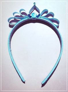 Frozen inspired ribbon crown $6ea to purchase visit https://www.facebook.com/pages/Adorable-Handmade-Baby-Bits/867045299996279