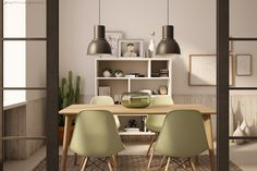 Green details  Interior render / 3dsmax - vray - photoshop