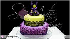 6th Birthday Cakes, Birthday Celebration, Birthday Party Themes, Birthday Ideas, Halloween Birthday, Happy Halloween, Maleficent Cake, Sleeping Beauty Party, Disney Cakes