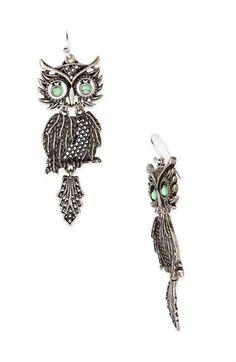 Lucky Brand 'Shaky Owl' Earrings