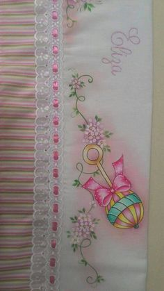 Baby Painting, Tole Painting, Fabric Painting, Sewing Projects, Projects To Try, Baby Sheets, Color Magic, Baby Wall Art, Brazilian Embroidery
