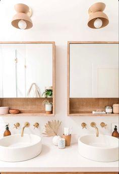 Bathroom Furniture, Pretty Bathrooms, Cheap Home Decor, Bathroom Mirror, Small Bathroom, Modern Bathroom, Bathroom Decor, Couples Bathroom, Tile Bathroom