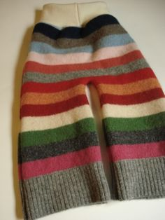 Wool longies (made with Katrina's pattern) - i have a box ready to sew up just like this - can't wait!