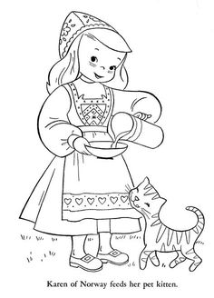 Coloring Books for Kids Best Of Children Of Other Lands 1954 – Belgium Spain Portugal Coloring Pages For Kids, Adult Coloring, Norway Viking, World Thinking Day, Kids Around The World, Coloring Book Pages, Christmas Colors, Paper Dolls, Embroidery Patterns
