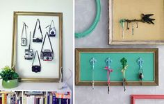 Love old wooden picture frames. Such an inexpensive way to decorate big or small areas! <3