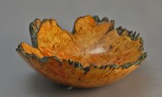 Dyed Natural Edge Maple Burl Bowl