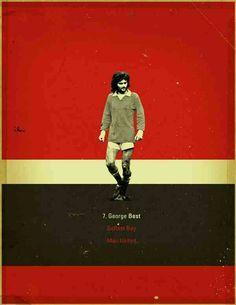 George Best of Man Utd wallpaper.