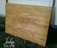 Personalised singing board, great alternative to a guest book and can be hung on wall after your special day.  Hand made from pine, with teak stain and hand burnt with heart, initials/date. Approx 40x60cm.  Please leave your initials, date and font choice in the notes section on checkout.  Postage cost will range from $12-$25.00 depending on location, Ill refund the difference in postage price after your purchase.  You can also check our items at www.facebook.com/indigobark
