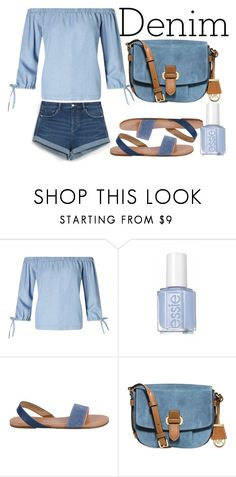 """Double Down on Denim"" by blueviolette on Polyvore featuring moda, Miss Selfridge, Tkees, MICHAEL Michael Kors, Zara e Denimondenim"