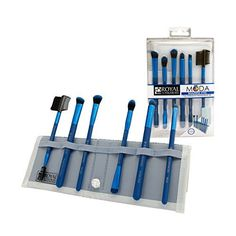 Royal Brush Moda Beautiful Eyes Brush Set and Case Blue -- For more information, visit new makeup products link.