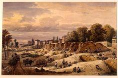 Démolition des remparts d'Orléans en 1848