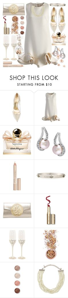"""""""New Year`s Eve"""" by grozdana-v ❤ liked on Polyvore featuring Le Silla, Chicwish, Salvatore Ferragamo, Chantecaille, Dareen Hakim, In Your Dreams, Terre Mère and Kenneth Jay Lane"""