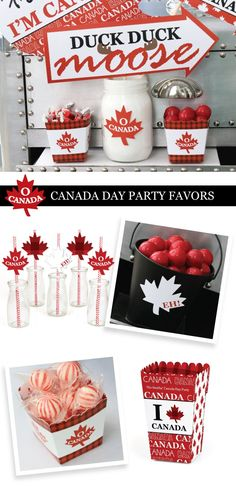 Happy Canada Day Party Supplies - Red and White Maple Leaf Party Decorations | BigDotOfHappiness.com Canada Day Party, Canada Holiday, Happy Canada Day, St Pattys, Leaf Shapes, Photo Booth, Party Time, Party Supplies, Celebrations