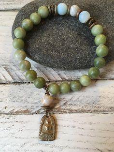Sundance Style, RareBird Unique Bracelet, Meditation Bracelet, Meditation Myla, Unique Gift, Unique Unique Bracelets, Gemstone Bracelets, Beautiful Prayers, Rare Birds, Bird Jewelry, Jade Beads, Beaded Necklace, Prayer Beads, Gemstones