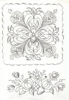 rosemaling pattern - use for center medallion on white work quilt Folk Embroidery, Embroidery Patterns, Painting Patterns, Craft Patterns, Rosemaling Pattern, Norwegian Rosemaling, Scandinavian Folk Art, Parchment Craft, Thinking Day