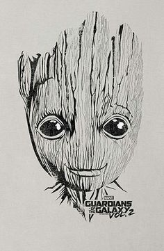 Original Drawing Baby Groot Guardians Of The Galaxy Groot