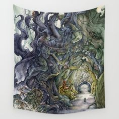 Only They Pronounce My Name Wall Tapestry by Faryn Hughes | Society6