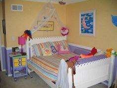Girls Purple & Yellow Bedroom